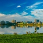 Photo of UB's North Campus taken from Lake LaSalle.