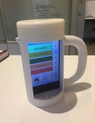 Placed inside the special 3D-printed mug, the mRehab smartphone app gives users feedback on their movements.
