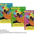 Image depicting the cards used in the game Afro-Rithms from the Future.