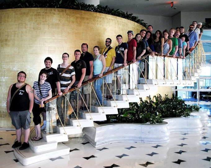 Archtecture students at Fountaine Bleau during Architrek