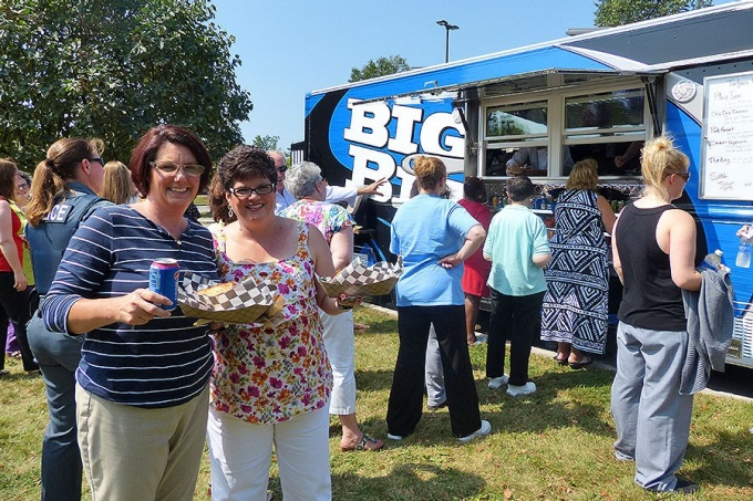 Big Blue food truck at Crofts Hall August 26, 2014