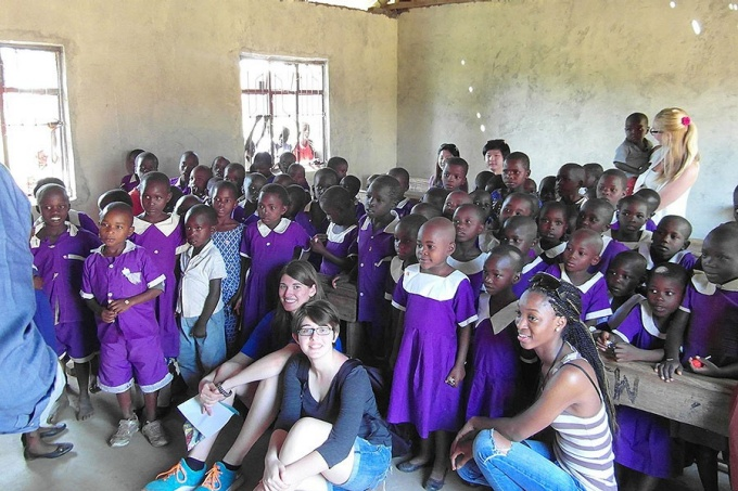UB students visiting the Kotwo Primary School in Tarime, Tanzania.