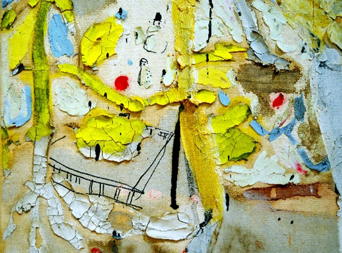 Rodney Taylor, Untitled (Hero Series), mixed media on canvas, 2005 (detail).
