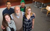 Claude Welch with students.