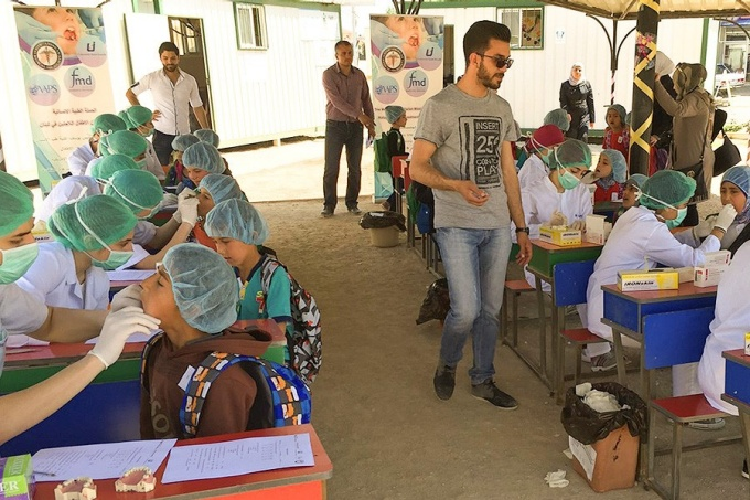 dental clinic in refugee camp