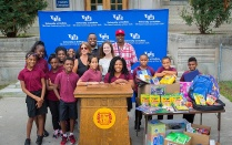 UB gets A+ for school supply drive