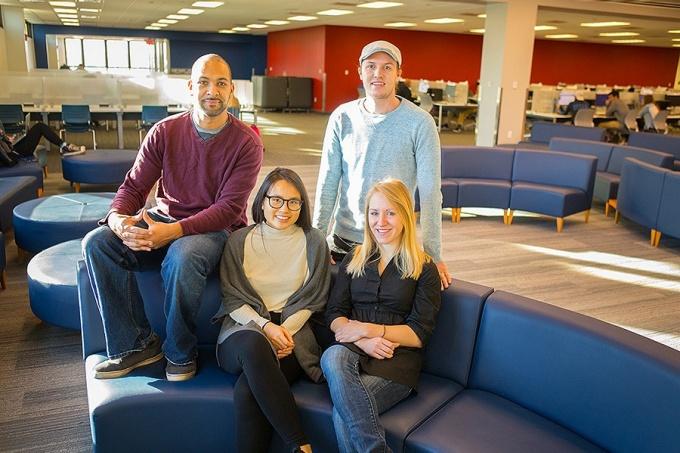 Gilman scholars Michael Pilgrom, Wanly Chen, Brandon Reilly and Kelly Aldinger