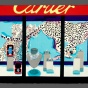 "Cartier Christmas Window, 2014, Screenprint on Japanese paper, 25"" x 36."" Image courtesy of the artist and Cade Tompkins Projects"