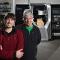 Scott (right) and Zach Vader inside their Amherst, New York, factory. Credit: Douglas Levere.