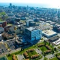 Aerial view of buffalo niagara medical campus with downtown in the background