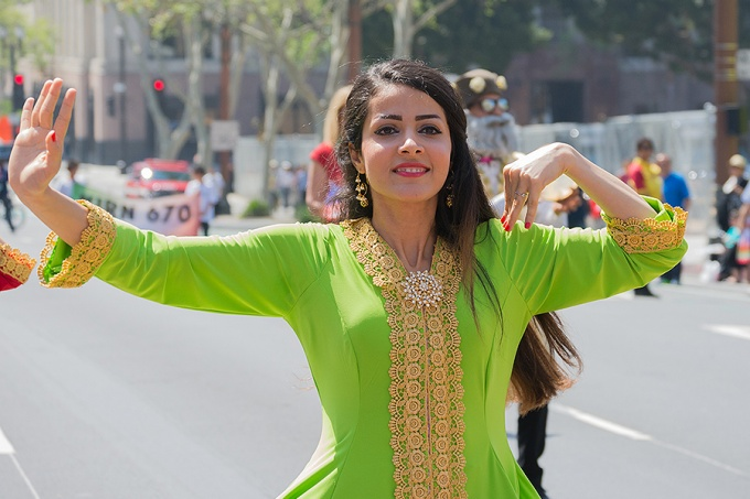 Persian dancer performing at the Norooz (Naw Ruz) Festival and Persian Parade new year celebration.