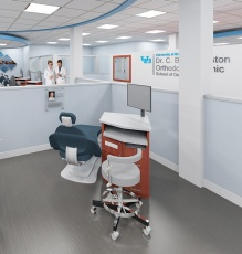 artist rendering of a new operatory in the dental school