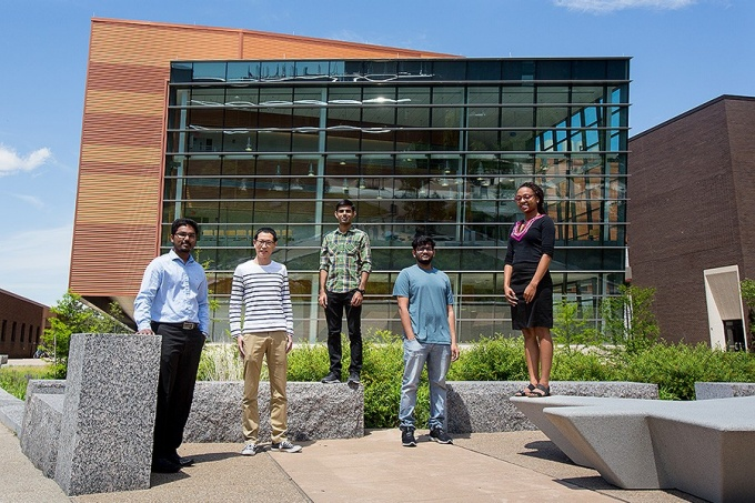 Engineering students who developed Pro Bono Analytics