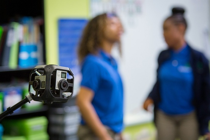 360º camera used to create virtual reality scenarios for student teachers