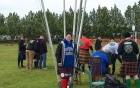 Kathryn Kendall poses in her University at Buffalo sweatshirt at the Scottish highland games held in Iceland