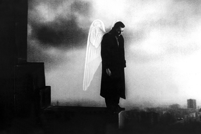"film still from ""Wings of Desire,"" 1987, directed by Wim Wenders."