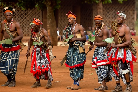 Traditional African dance at the Babungo Kingdom in Cameroon