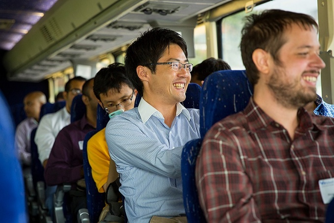 Taku Yamamoto, an MBA candidate from Japan who also holds a civil engineering degree, was among the students on the tour.