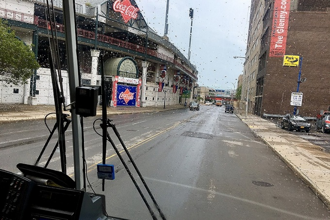 Coca-Cola Field—the original location of UB—photographed by Michael Andrei during the bus tour.