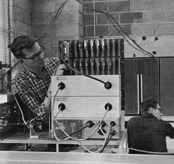 Computer scientists at UB in the late 1960s.