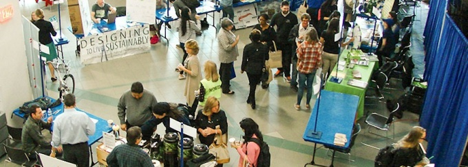 Overview of vendors at Sustainable living fair
