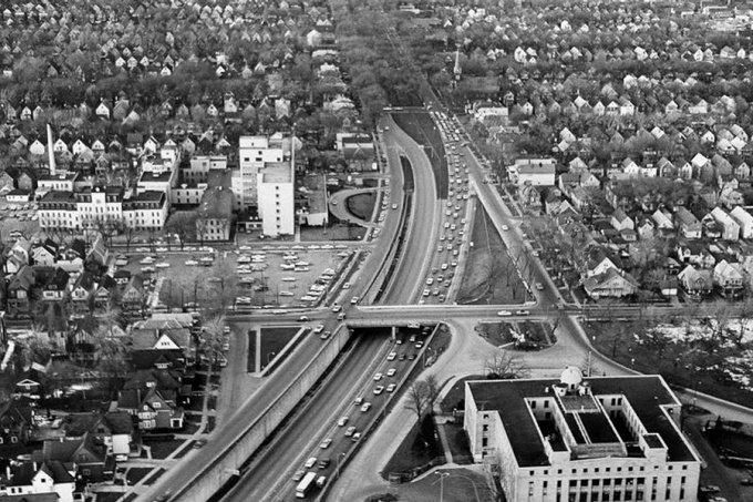 Kensington Expressway sliced through the heart of Buffalo's neighborhoods. Buffalo Public Works Department