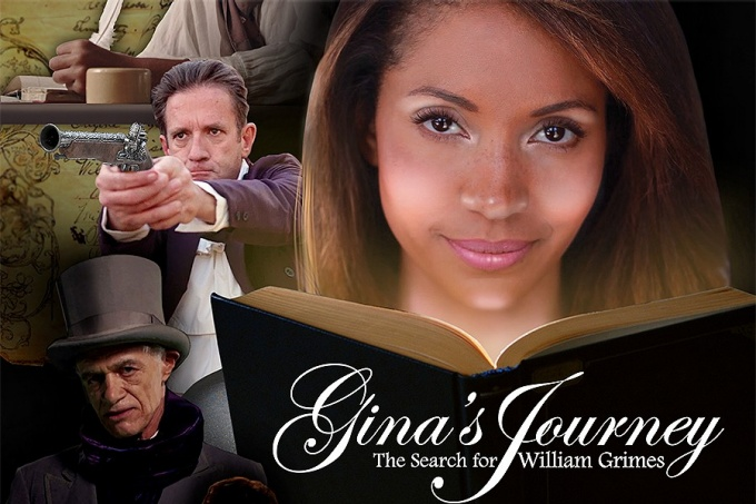 "Poster for the documentary ""Gina's Journey: The Search for William Grimes"""