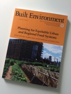 cover of the October issue of the journal Built Environment, which focuses on food equity and features contributions from a number of UB affiliated researchers.