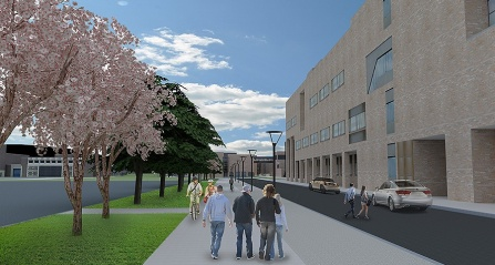 Rendering of improvements being made to Putnam Way.