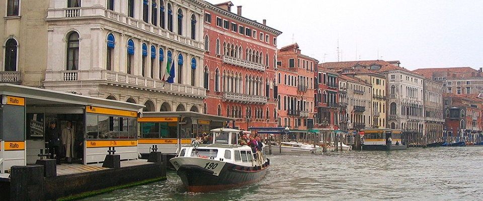 Grand Canal, Venice Italy. Palazzo Bembo is the second building from the left.