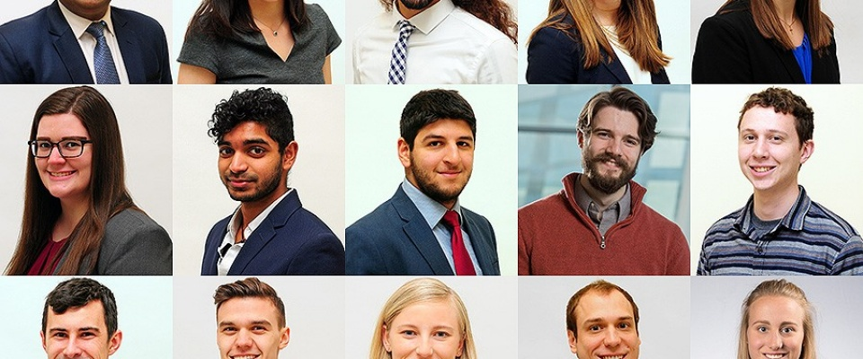 Head shots of the fifteen UB students have received 2018 SUNY Chancellor's Award for Student Excellence.