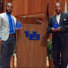 Hamadi Shebule (left) and James Simmons, 2018 EOC Awardees.
