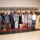 The UB team with the African Rights Initiative International board at a joint meeting between the partners