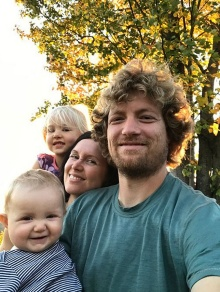 Jesse Meeder, Katie McClain-Meeder and their daughters Flora and Charlotte.