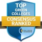 badge for College Consensus' top green colleges.