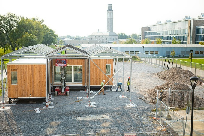 Reconstruction of the GRoW Home on UB's South Campus during the summer 2017.