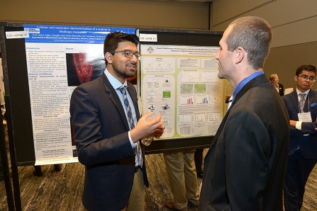 Syed Adnan Uddin, during his poster presentation.