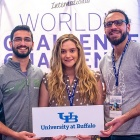UB's team took third place at the World's Challenge Challenge for their Numu Burger—a meat substitute made from meal worms.