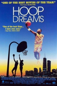 "Movie poster for ""Hoop Dreams,"" 1994, directed by Steve James."