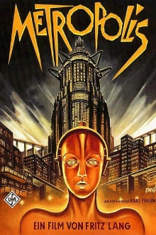 "Movie poster for ""Metropolis,"" 1927, directed by Fritz Lang."