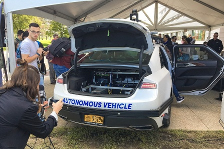 UB's second autonomous vehicle unveiled. .