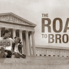 "Title screen from ""The Road to Brwon"" documentary film."