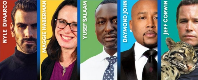 2019-20 Distinguished Speakers Series: Nyle DiMarco, Maggie Haberman, Yusef Salaam, Daymond John and Jeff Corwin.