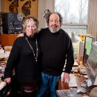 Diane Christian and Bruce Jackson, pictured in their home 2012.