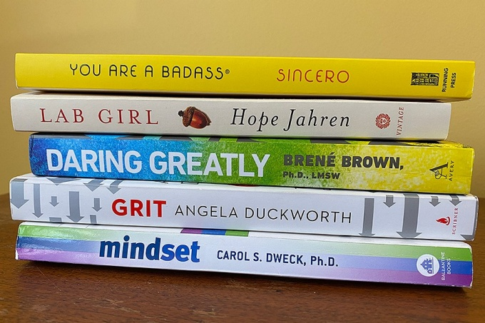 Selection of books for the virtual book club.