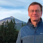 Andreas Daum pictured in front of Pico del Teide volcano on the Atlantic island on Tenerife this January 2020.