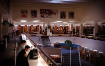 2005 interior view of the UB Law Library.