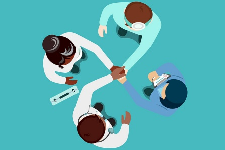 Concept of collaboration between healthcare professions.