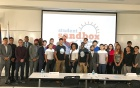 Student participants in the Student Sandbox pitch competition