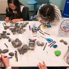 WiSE students help spread some positivity and inspiration around UB and amongst women in STEM fields by creating kindness rocks—inspirational quotes and positive encouragement on rocks.